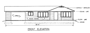 floor plan front view part 43 9600 view house plans sloping