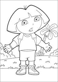dora coloring free printable coloring pages
