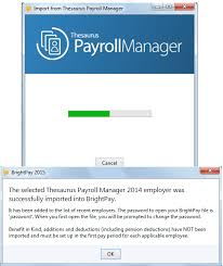 thesaurus confirmation importing from thesaurus payroll manager brightpay documentation