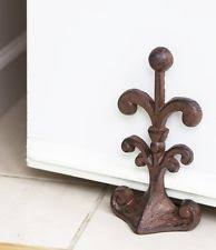 antique cast iron door stop ebay
