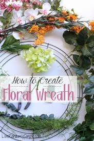 how to craft an artificial floral wreath live randomly simple