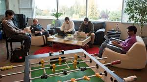 is anyone really using the foosball table office perks employees