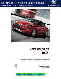 peugeot rcz service manual pdf by andrewmuscle issuu