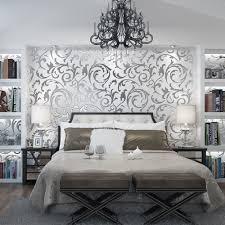 1x 10m luxury silver 3d victorian damask embossed wallpaper rolls