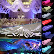 wedding chair sash aliexpress buy 110 meters x 35 cm sheer organza roll wedding