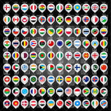 Flag Of All Countries World Map With Flags Of Countries Royalty Free Vector Clip Art