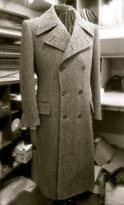 davide taub bespoke greatcoat in tweed herringbone g u0026h no 1 2013