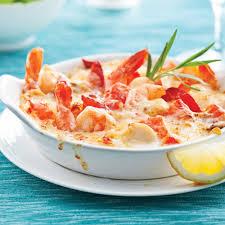 gratin de fruits de mer thermidor recettes cuisine et nutrition