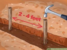 How To Build A Shed Base Out Of Wood by How To Build A Brick Wall With Pictures Wikihow
