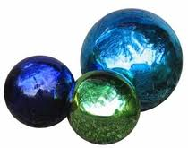 blown glass gazing balls and garden globes for home or garden