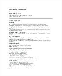sample secretary resume secretary resume example sample