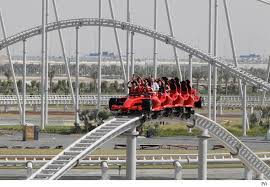 roller coaster abu dhabi speed the s fastest roller coaster opens in dubai aol uk travel