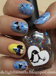 delight in nails mickey mouse nail art with creative cuticles of