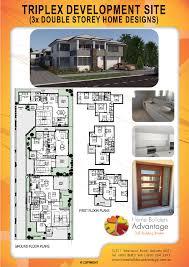 Triplex Home Plans Home Builders Advantage Two Storey Triplex Development