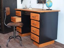 bureau bois noir bureau bois bureau vintage bureau industriel bureau bois métal