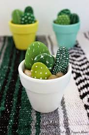 20 cactus crafts and printables cacti rock and craft