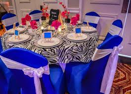 Spandex Chair Sashes Royal Blue Spandex Chair Covers With White Satin Chair Sashes