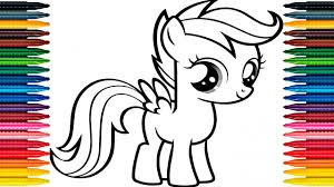 drawing my little pony learn how to draw pony colors picture