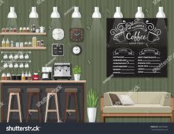 Aaa Business Interiors Modern Flat Design Coffee Shop Interior Stock Vector 365762681