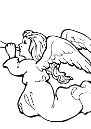 angel playing music coloring pages