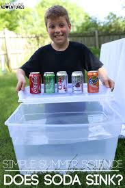 summer science experiments sinking soda surprise