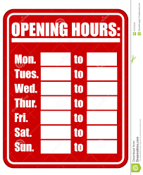 opening hours sign eps stock vector image of isolated 15734378