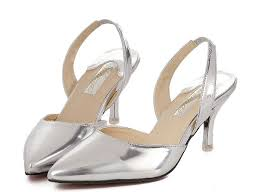 wedding shoes mid heel wedding shoes ideas silver toes sling back mid heel wedding