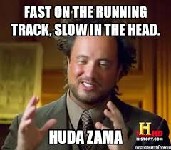 Fast Internet Meme - on the running track slow in the head