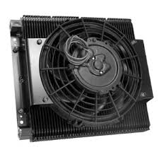 oil cooler fan kit 9293 empi 96 plate oil cooler with fan kit