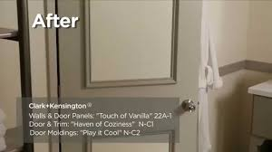 How To Paint Over Wood Paneling by How To Makeover A Plain Interior Door Clark Kensington Youtube