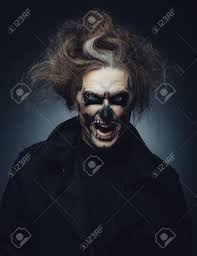 Halloween Makeup Beard by Portrait Of Man With Halloween Skull Makeup Stock Photo Picture