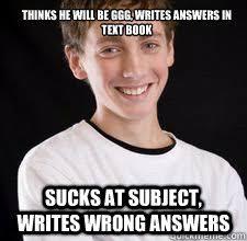 School Sucks Meme - high school freshman memes quickmeme