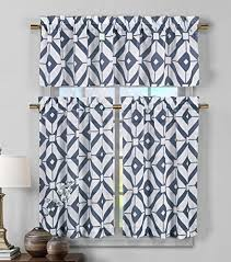 Kitchen Valances And Tiers by Blue Kitchen Curtains Amazon Com