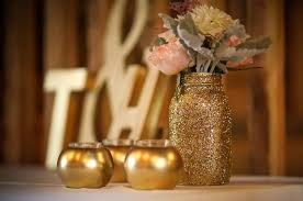 vintage marquee sign with gold glitter linens