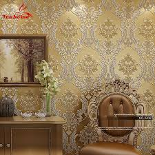 Black Damask Wallpaper Home Decor by Online Buy Wholesale Damask Wallpaper From China Damask Wallpaper