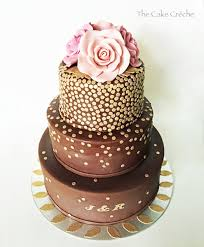 brown cake brown and gold sequins cake the cake créche
