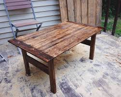 Patio Furniture Out Of Wood Pallets - i made this coffee table out of pallet wood and misc lumber found