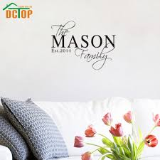 online get cheap family customers aliexpress alibaba group dctop personalized name family wall sticker living room bedroom decor custom date vinyl decals