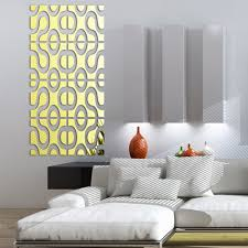 modern design diy acrylic mirror wall art home decor 3d wall