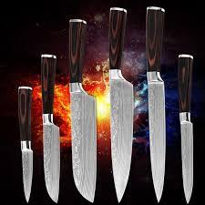 laser kitchen knives xyj brand paring utility 2 santoku slicing chef kitchen knives