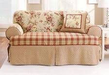 T Cushion Sofa Slipcover by Sofa Slipcovers In White Grey Black Red Stretch 3 Piece Ebay