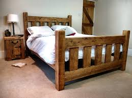 rustic bed frame plans in more attractive design laluz nyc home