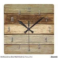 Grande Horloge Murale Carrée En Bois Vintage Achat Les 14 Meilleures Images Du Tableau Horloges Sur Horloge