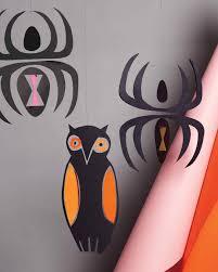 Halloween Owl Pictures Halloween Paper Mobiles Martha Stewart
