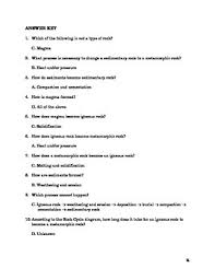 rock cycle quiz and answer key by the sci guy teachers pay teachers