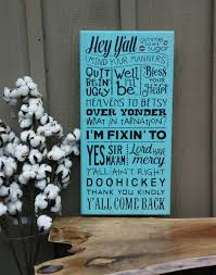 southern sayings home decor wood sign hand painted 12 x