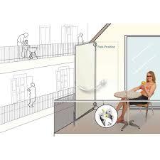 balkon windschutz ohne bohren premium sichtschutz balkon 70 cm windschutz blickdicht amazonde