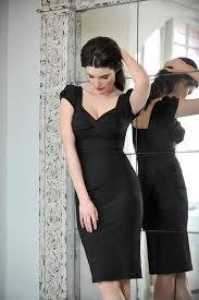 nigella dress in black bodycon dress as worn by nigella lawson