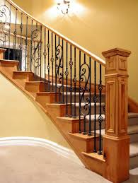 Spindle Staircase Ideas Astounding Wrought Iron Spindles Decorating Ideas