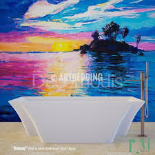 wall murals peel and stick self adhesive vinyl hd print tagged bathroom mural self adhesive peel stick bathroom photo mural sunset painting wall mural for bathroom